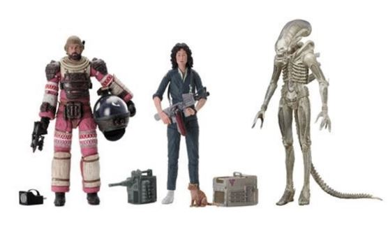 "Alien 40th Anniversary Series 1 7"" Action Figure Set of 3"